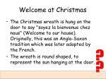 welcome at christmas