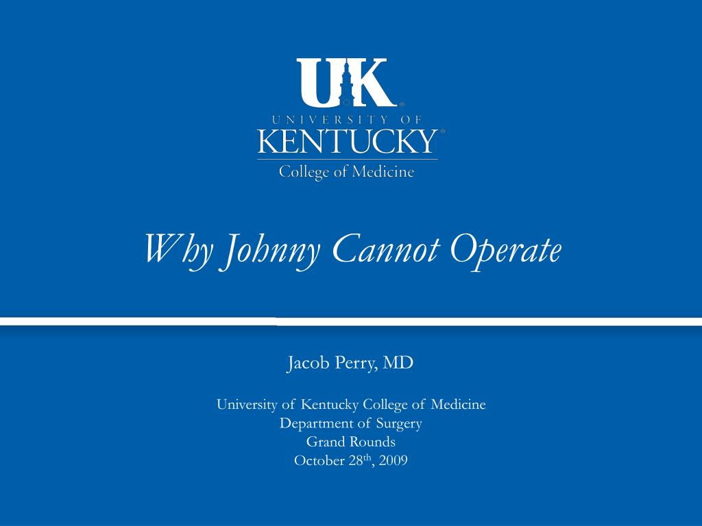 why johnny cannot operate l.