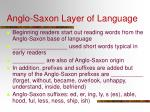 anglo saxon layer of language