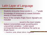 latin layer of language