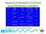 aqueous n alkylation of amines using microwave irradiation