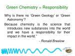 green chemistry responsibility