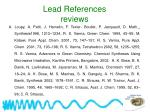 lead references reviews