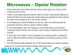 microwaves dipolar rotation