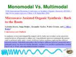 monomodal vs multimodal