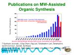 publications on mw assisted organic synthesis