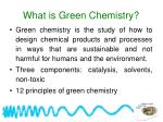 what is green chemistry