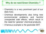 why do we need green chemistry