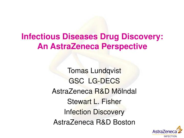 infectious diseases drug discovery an astrazeneca perspective n.
