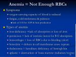 anemia not enough rbcs