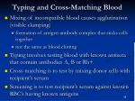 typing and cross matching blood