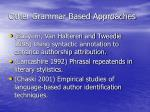 other grammar based approaches