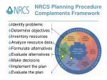 nrcs planning procedure complements framework