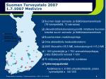 suomen terveystalo 2007 1 7 1007 medivire