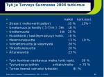 ty ja terveys suomessa 2006 tutkimus