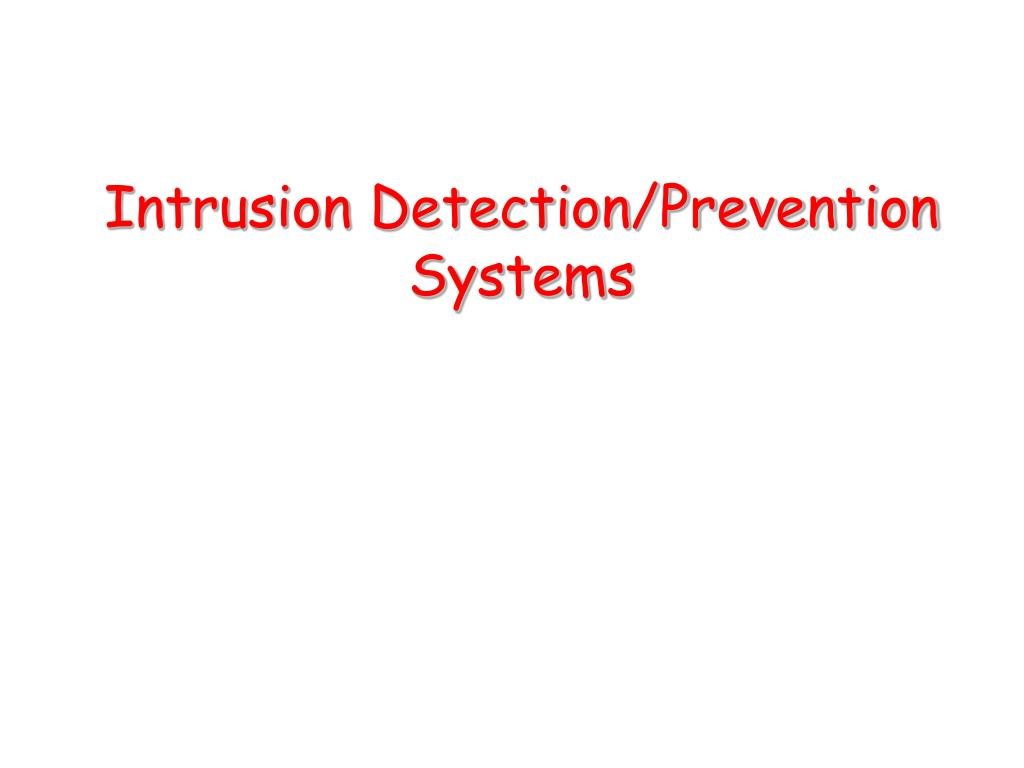 intrusion detection prevention systems l.