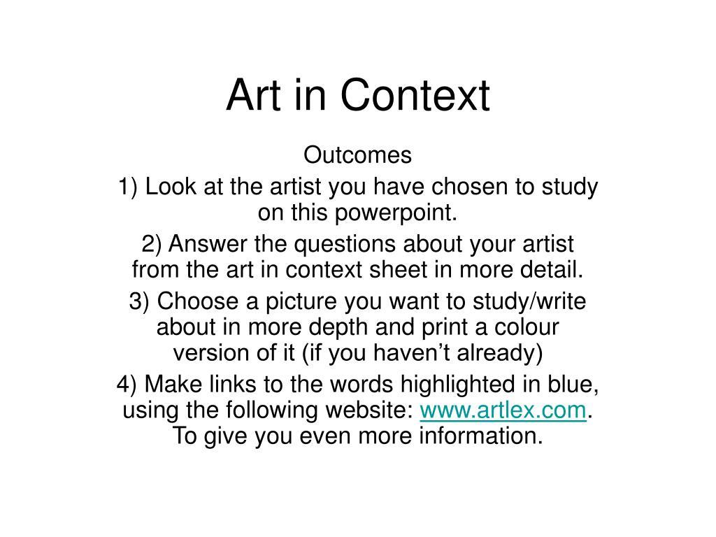 art in context l.