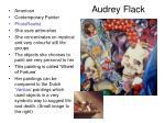 audrey flack