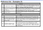 reference list examples 2