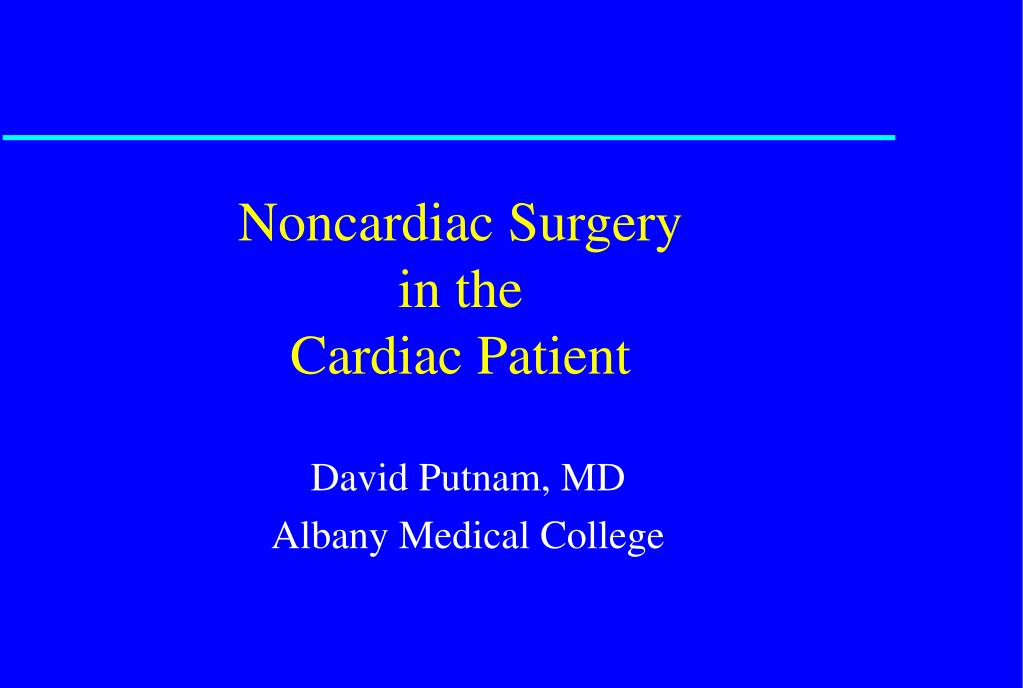 noncardiac surgery in the cardiac patient l.