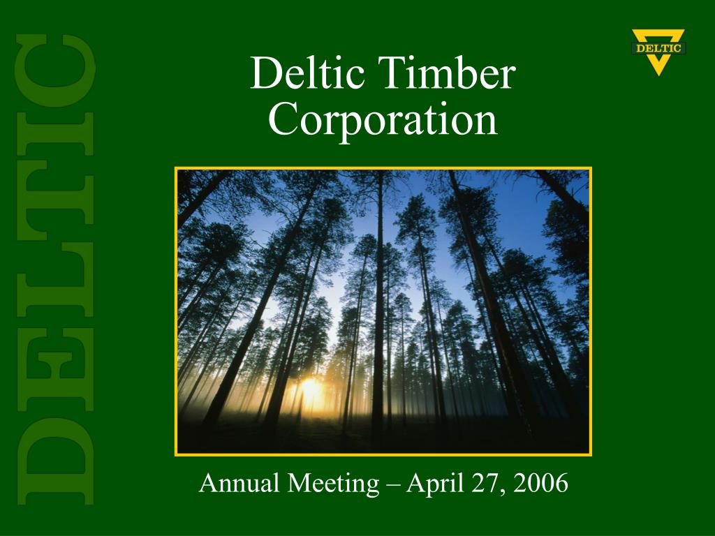 deltic timber corporation l.