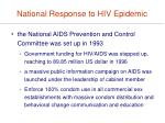 national response to hiv epidemic