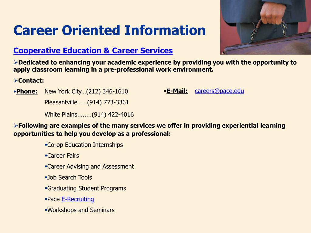 Career Oriented Information