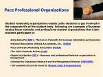 pace professional organizations