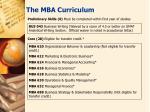 the mba curriculum