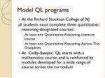 model ql programs