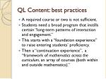 ql content best practices