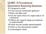 quirk 10 foundational quantitative reasoning questions14