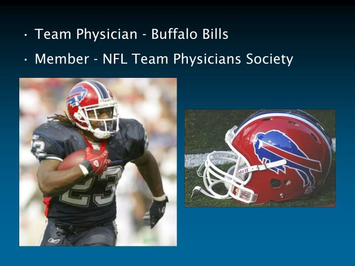Team Physician - Buffalo Bills