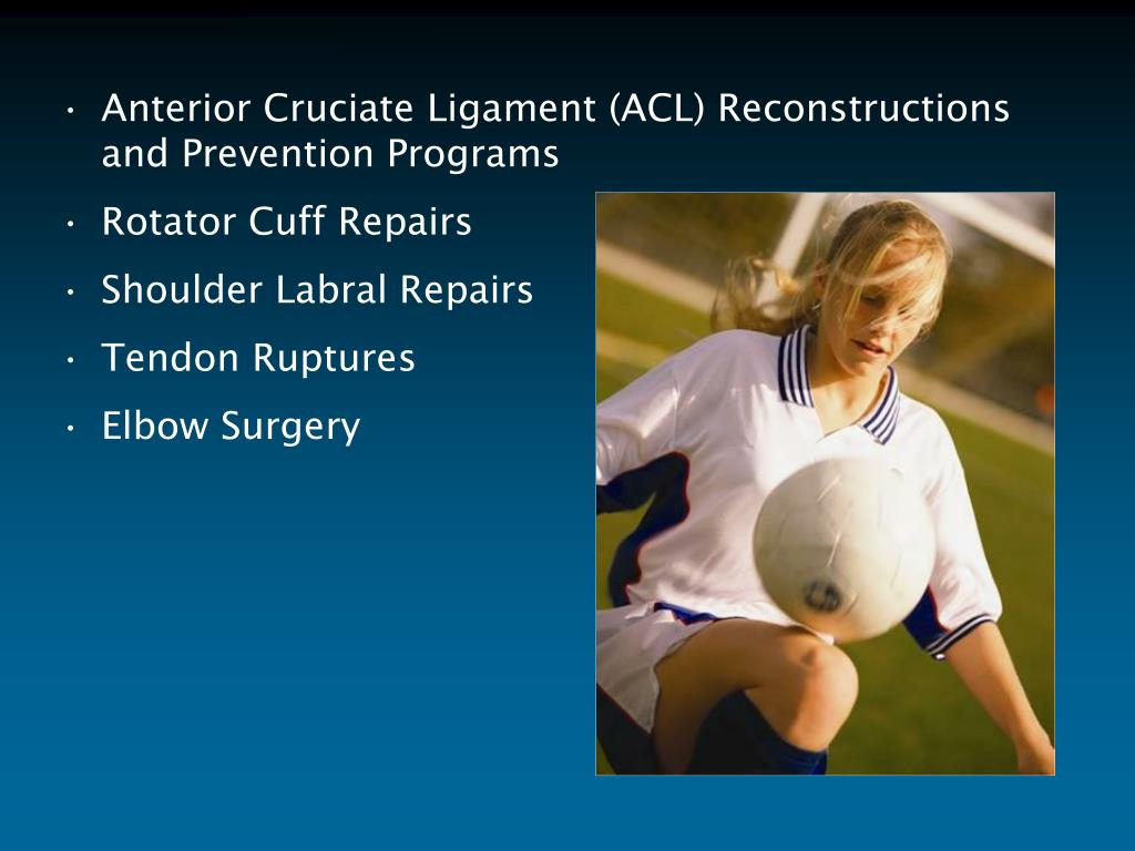 Anterior Cruciate Ligament (ACL) Reconstructions and Prevention Programs