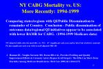 ny cabg mortality vs us more recently 1994 1999