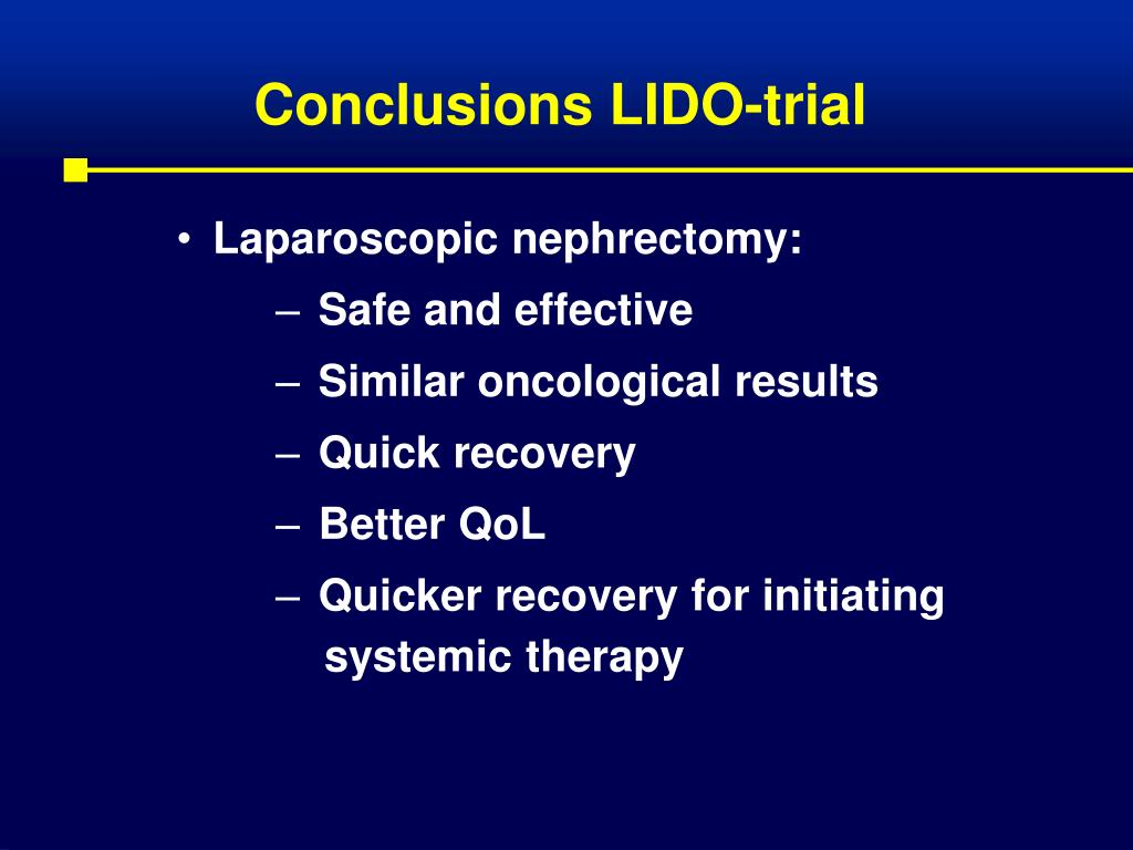 Conclusions LIDO-trial