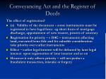 conveyancing act and the register of deeds1
