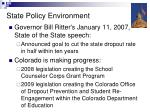 state policy environment