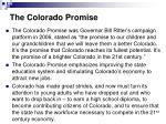 the colorado promise