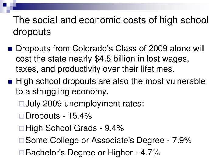 the reasons for the rising senior high school dropout rate essay The rate of high school dropout is silently becoming an epidemic commonly, students' age category is within the range of 16-24 years according to the united state department of education, though the overall rate of dropout seems to be on a downward trend since 1960 till date, it is important to note however, that there exists a sharp uneven distribution in the record across regions, race and gender.