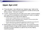 upper age limit