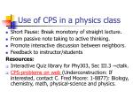 use of cps in a physics class