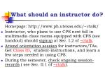 what should an instructor do