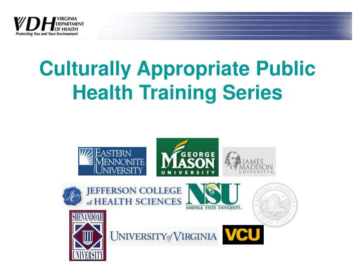 culturally appropriate public health training series n.