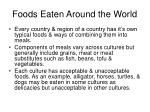 foods eaten around the world