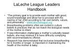 laleche league leaders handbook