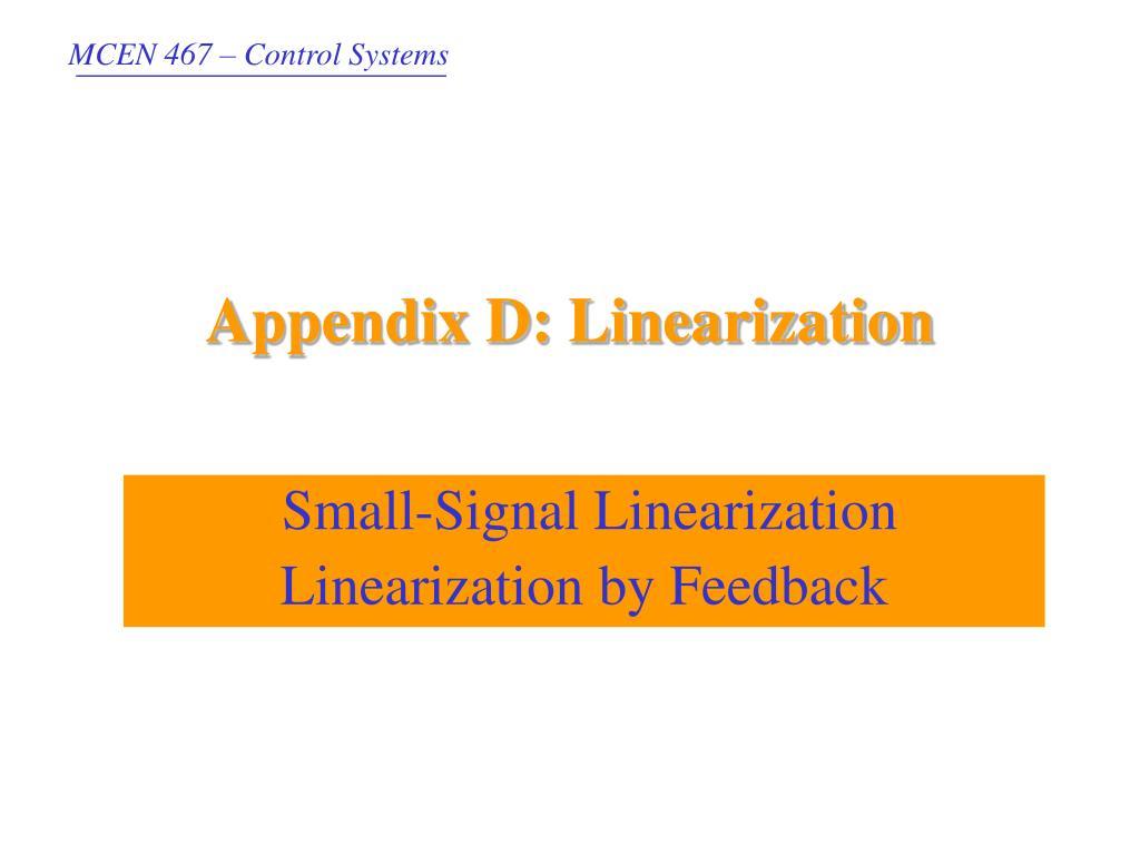 appendix d linearization l.