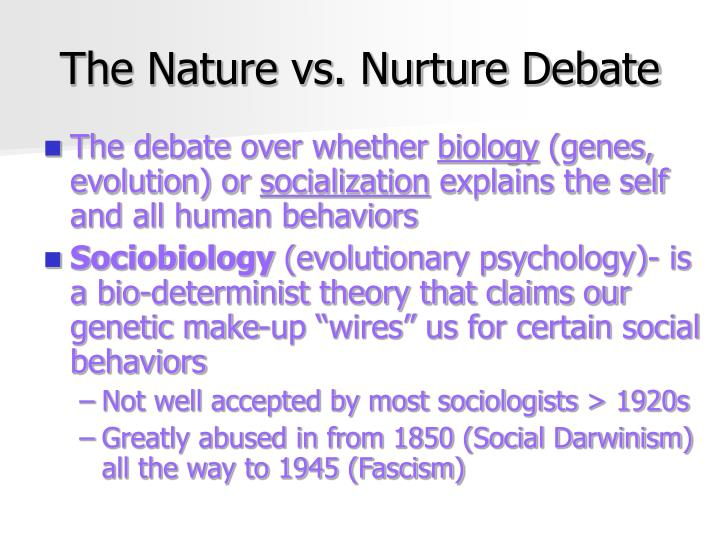 nature vs nurture criminals born made -generally, the tabula rasa thesis favour the nurture side of the nature versus nurture debate, when it comes to aspects of one's personality, social and emotional behaviour, and intelligence.
