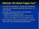 methods ihi global trigger tool
