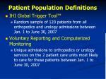 patient population definitions
